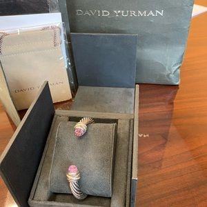David Yurman Amethyst 7mm cable crossover bracelet